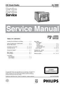 Servicehandboek Philips AJ 3980