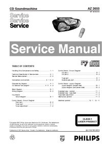 Service Manual Philips AZ 2055