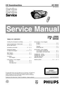 Manuale di servizio Philips AZ 2055