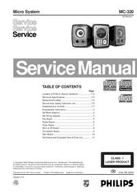 Service Manual Philips MC-320