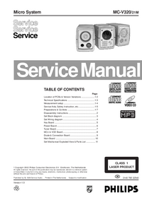 Service Manual Philips MC-V320