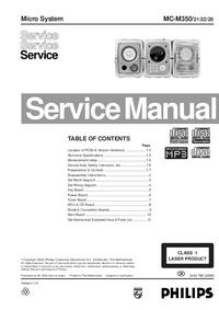 Manual de serviço Philips MC-M350