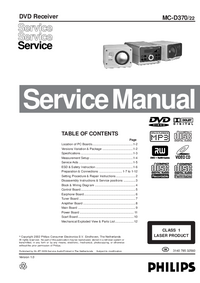 Servicehandboek Philips MC-D370
