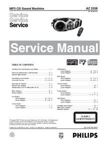 Serviceanleitung Philips AZ 2558