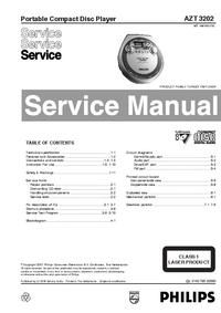 Руководство по техническому обслуживанию Philips AZT 3202