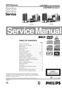 Service Manual Philips LX3700D