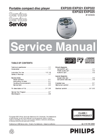 Manual de servicio Philips EXP322