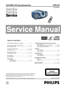Service Manual Philips AZ5155
