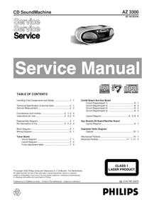 Руководство по техническому обслуживанию Philips AZ 3300