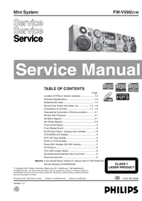 Service Manual Philips FW-V595