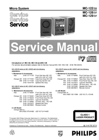 Manual de servicio Philips MC-128