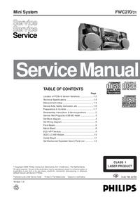 Manual de serviço Philips FWC270