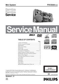 Service Manual Philips FW-D550