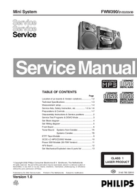 Manual de servicio Philips FWM390