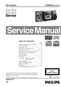 Manual de servicio Philips FWM399