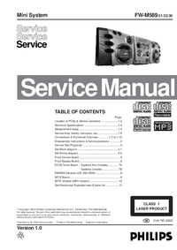 Service Manual Philips FW-M589