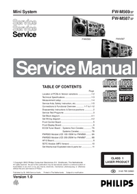 Manual de servicio Philips FW-M587