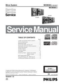 Manual de servicio Philips MCM530