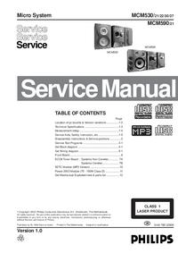Manual de serviço Philips MCM590