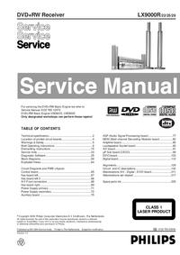 Serviceanleitung Philips LX9000R