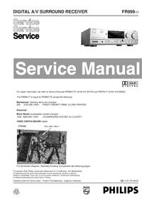 Руководство по техническому обслуживанию Philips FR999