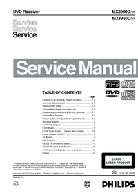 Service Manual Philips MX3950D