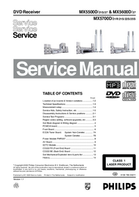 Manual de servicio Philips MX5700D
