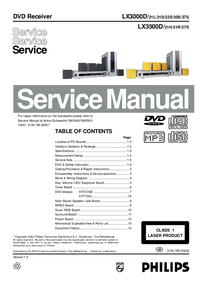 Service Manual Philips LX3000D