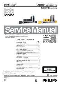 Manual de serviço Philips LX3500D