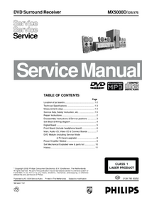 Service Manual Philips MX5000D