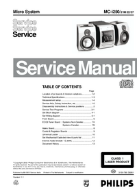 Service Manual Philips MC-i250