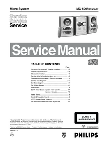 Servicehandboek Philips MC-500
