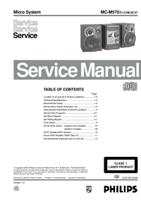 Servicehandboek Philips MC-M570