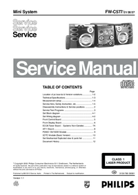 Manual de servicio Philips FW-C577