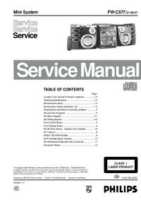 Manual de servicio Philips FW-C577