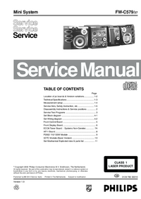 Service Manual Philips FW-C579