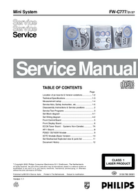 Service Manual Philips FW-C777