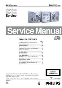 Serviceanleitung Philips FW-C777