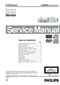Service Manual Philips LX3600D