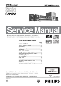 Manual de servicio Philips MX3660D