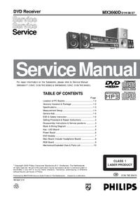 Manual de serviço Philips MX3660D