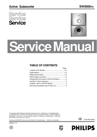 Service Manual Philips SW3660