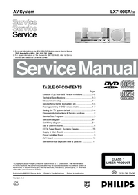 Service Manual Philips LX7100SA