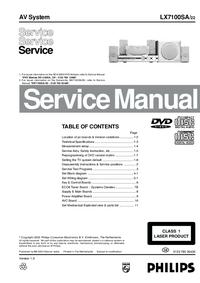Manuale di servizio Philips LX7100SA