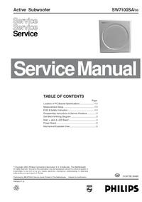 Instrukcja serwisowa Philips SW7100SA