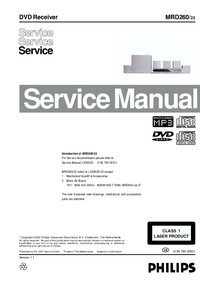 Manual de servicio Philips MRD260