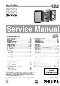Service Manual Philips MC-M250