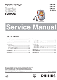 Service Manual Philips SA 235
