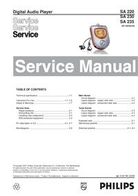 Manual de serviço Philips SA 220