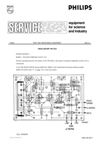 Manuale di servizio Supplemento Philips PM3234